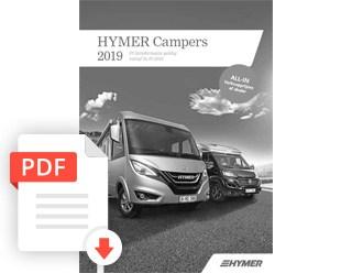 Brochure Hymer Camper Prijslijst