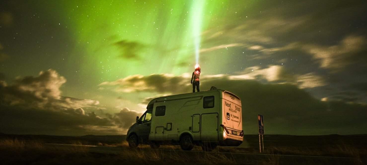 Met de Hymer camper naar IJsland toe De Jong Hattem