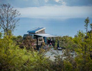 Dé kampeerplek met ruim uitzicht over de zee in Italië