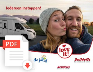 De Jong Hattem Dethleffs Trend Kampeerauto Folder 2020