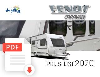 De Jong Hattem Fendt Caravan Prijslijst 2020