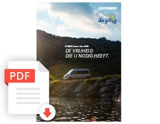 De Jong Hattem Hymer Camper Van Folder 2020