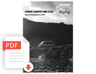 De Jong Hattem Hymer Camper Van Prijslijst 2020