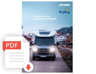 De Jong Hattem Hymer Kampeerauto Folder 2020
