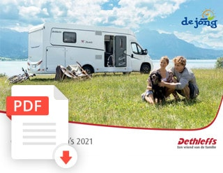 Dethleffs Kampeerauto Folder Modeljaar 2021 De Jong Hattem