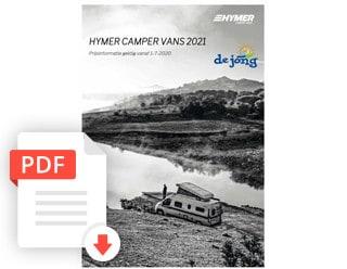 Hymer Camper Van Buscampers Prijslijst Modeljaar 2021 De Jong Hattem