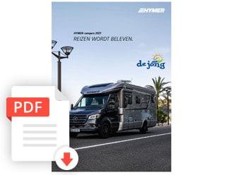 Hymer Kampeerauto Folder Modeljaar 2021 De Jong Hattem