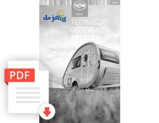 T@B Caravan Folder Modeljaar 2021 De Jong Hattem